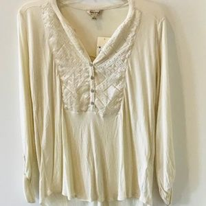 NWT Lucky Brand Blouse. Small